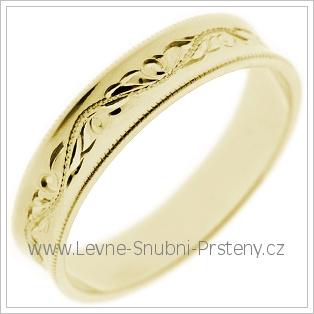 Snubní prsteny LSP 1590 žluté zlato