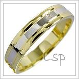 Snubní prsteny LSP 1591 kombinované zlato