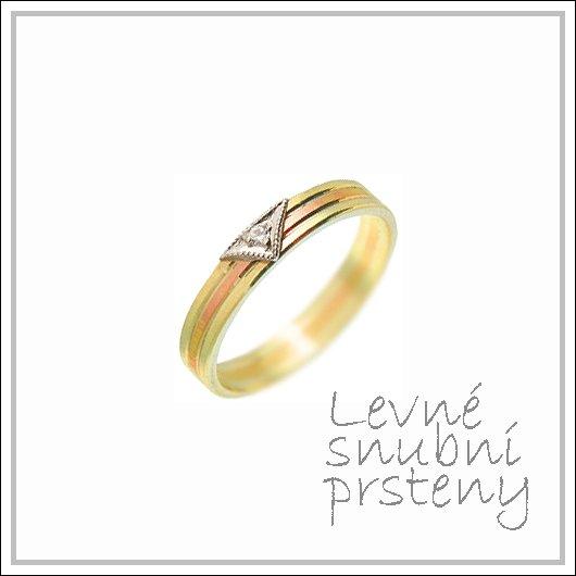 Snubní prsteny LSP 1592 kombinované zlato