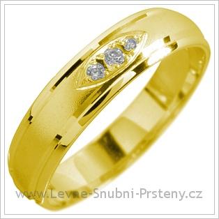 Snubní prsteny LSP 1593 žluté zlato