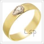Snubní prsteny LSP 1596 žluté zlato