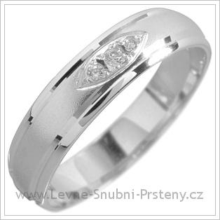 Snubní prsteny LSP 1597 bílé zlato
