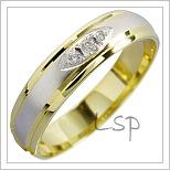 Snubní prsteny LSP 1601 kombinované zlato
