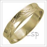 Snubní prsteny LSP 1602 žluté zlato