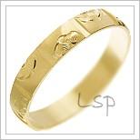 Snubní prsteny LSP 1603 žluté zlato