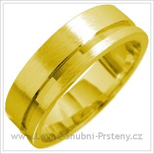 Snubní prsteny LSP 1606 žluté zlato