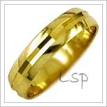 Snubní prsteny LSP 1607 žluté zlato