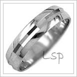 Snubní prsteny LSP 1607b bílé zlato
