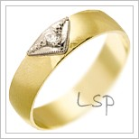 Snubní prsteny LSP 1609 žluté zlato