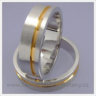 Snubní prsteny LSP 1612 kombinované zlato