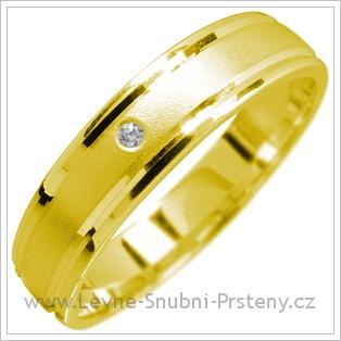 Snubní prsteny LSP 1615 žluté zlato