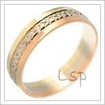Snubní prsteny LSP 1618 kombinované zlato