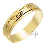Snubní prsteny LSP 1619 žluté zlato