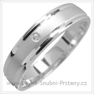 Snubní prsteny LSP 1620 bílé zlato