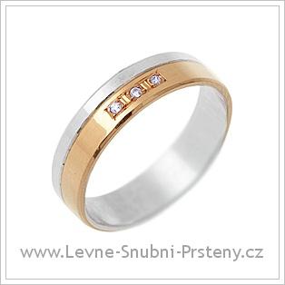 Snubní prsteny LSP 1623 - kombinované zlato