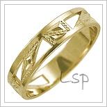 Snubní prsteny LSP 1624 žluté zlato