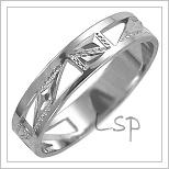 Snubní prsteny LSP 1624b bílé zlato