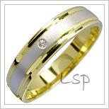 Snubní prsteny LSP 1625 kombinované zlato