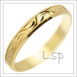 Snubní prsteny LSP 1626 žluté zlato