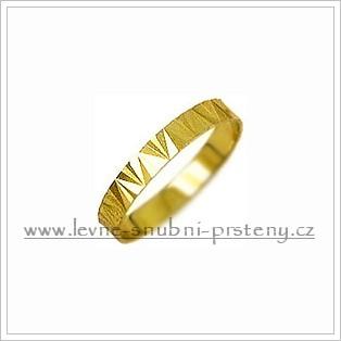 Snubní prsteny LSP 1628 žluté zlato