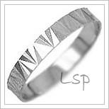 Snubní prsteny LSP 1628b bílé zlato