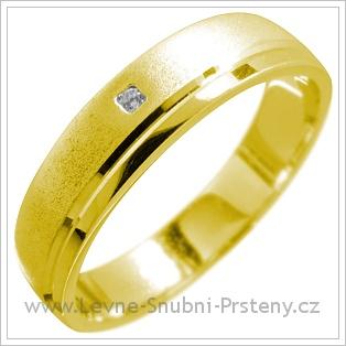 Snubní prsteny LSP 1629 žluté zlato
