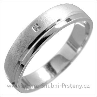 Snubní prsteny LSP 1631 bílé zlato