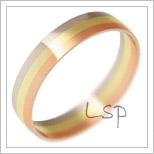 Snubní prsteny LSP 1632 kombinované zlato