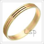 Snubní prsteny LSP 1634 kombinované zlato