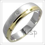 Snubní prsteny LSP 1635 kombinované zlato