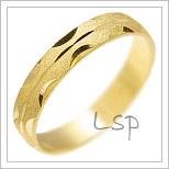Snubní prsteny LSP 1637 žluté zlato
