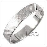 Snubní prsteny LSP 1639b bílé zlato