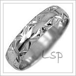 Snubní prsteny LSP 1642b bílé zlato