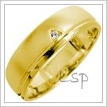 Snubní prsteny LSP 1643 žluté zlato