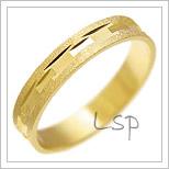Snubní prsteny LSP 1644 žluté zlato