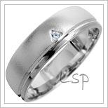 Snubní prsteny LSP 1645 bílé zlato