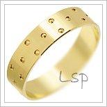 Snubní prsteny LSP 1647 žluté zlato