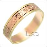 Snubní prsteny LSP 1649 kombinované zlato
