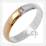 Snubní prsteny LSP 1651 - kombinované zlato