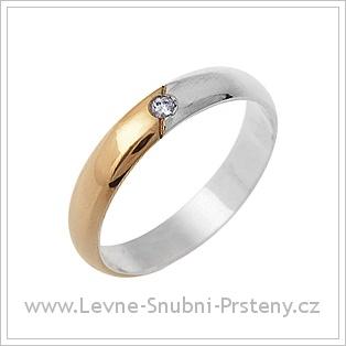 Snubní prsteny LSP 1651 kombinované zlato