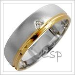 Snubní prsteny LSP 1652 kombinované zlato