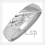 Snubní prsteny LSP 1654b bílé zlato
