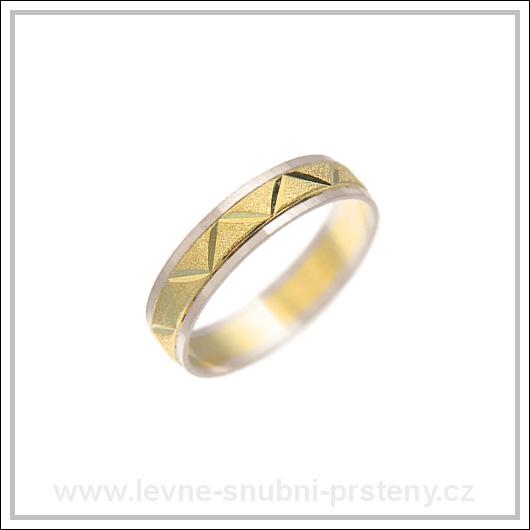 Snubní prsteny LSP 1655 kombinované zlato