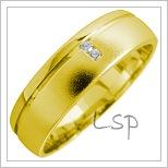 Snubní prsteny LSP 1656 žluté zlato