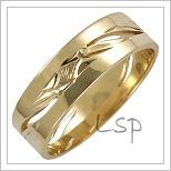 Snubní prsteny LSP 1657 žluté zlato