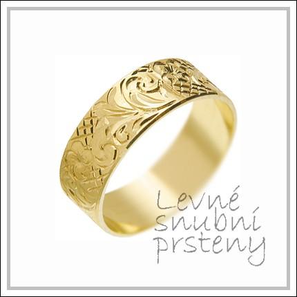 Snubní prsteny LSP 1659 žluté zlato