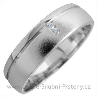 Snubní prsteny LSP 1662 bílé zlato