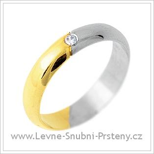 Snubní prsteny LSP 1663 - kombinované zlato