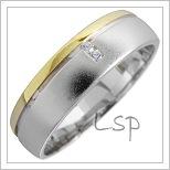 Snubní prsteny LSP 1664 kombinované zlato