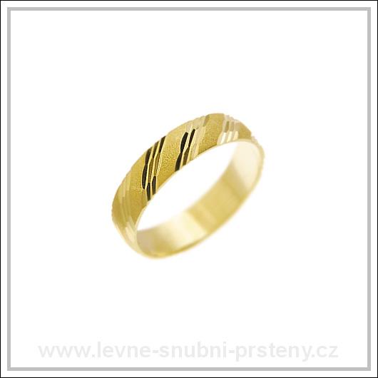 Snubní prsteny LSP 1665 žluté zlato